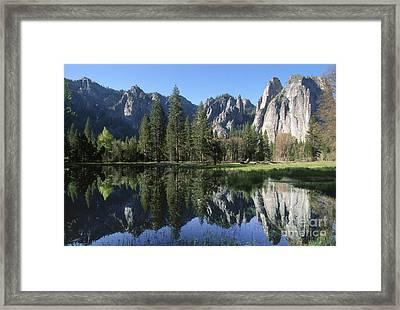 Morning Reflection At Yosemite Framed Print