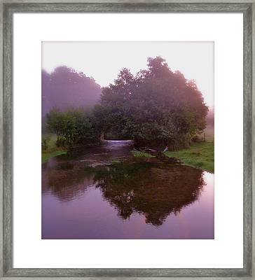 Morning Reflection Framed Print by Karen Grist