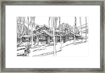 Framed Print featuring the drawing Morning Run by Andrew Drozdowicz