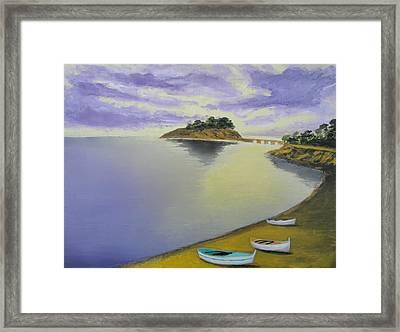 Morning Sea Framed Print by Larry Cirigliano
