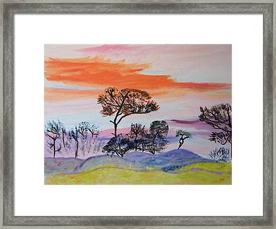 Framed Print featuring the painting Morning Skies  by Meryl Goudey