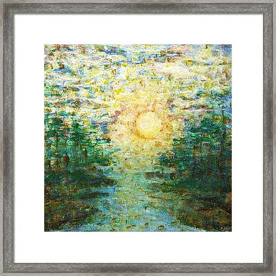 Morning Sun Framed Print by Andria Alex