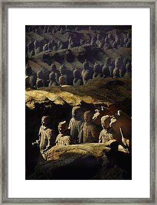 Morning Sun Shining On Chinas Great Framed Print by O. Louis Mazzatenta