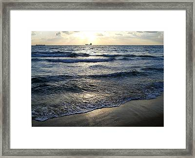 Framed Print featuring the photograph Morning Surf by Clara Sue Beym