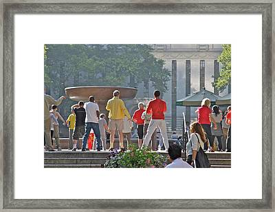 Morning Tai Chi Framed Print by Jerry Patterson
