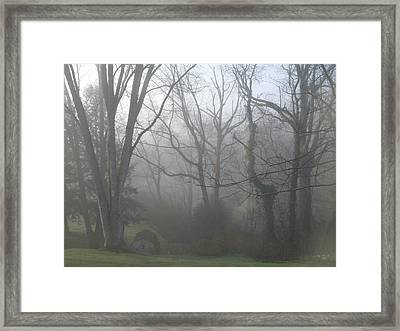 Morning Winter Fog Framed Print by James Guentner