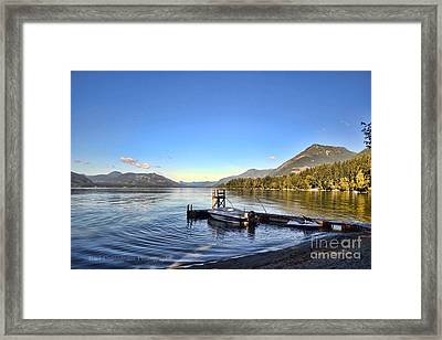 Mornings In British Columbia Framed Print