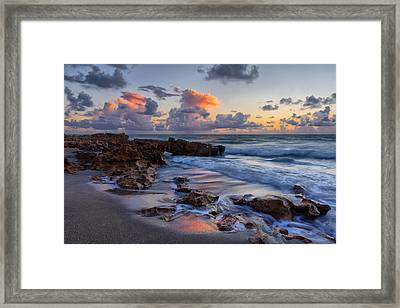 Mornings Reflections Framed Print by Claudia Domenig