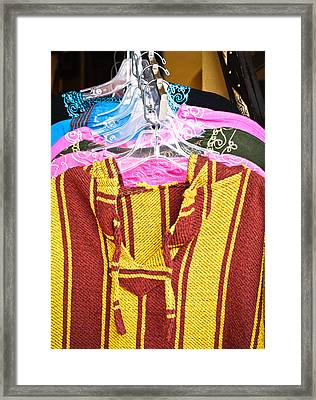Moroccan Clothes Framed Print by Tom Gowanlock