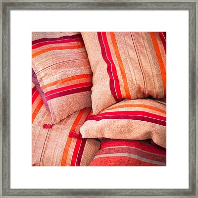 Moroccan Cushions Framed Print by Tom Gowanlock