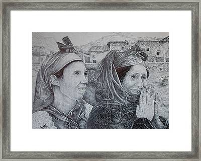 Moroccan Peasant Framed Print by Fouad Laaniz