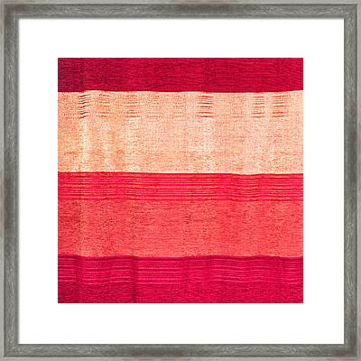 Moroccan Textile Framed Print by Tom Gowanlock