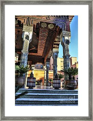 Morocco Architecture II Framed Print by Chuck Kuhn
