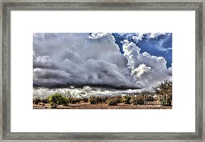 Morocco Clouds II Framed Print by Chuck Kuhn