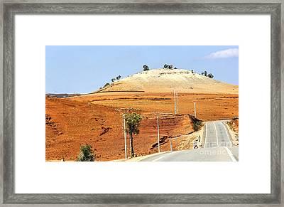 Morocco Landscape I Framed Print by Chuck Kuhn