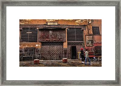 Morocco Life I Framed Print by Chuck Kuhn