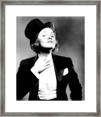 Morocco, Marlene Dietrich, 1930 Framed Print