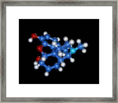 Morphine Drug Molecule Framed Print by Laguna Design