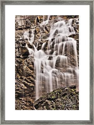 Framed Print featuring the photograph Morrell Falls 1 by Janie Johnson