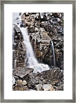 Framed Print featuring the photograph Morrell Falls 2 by Janie Johnson