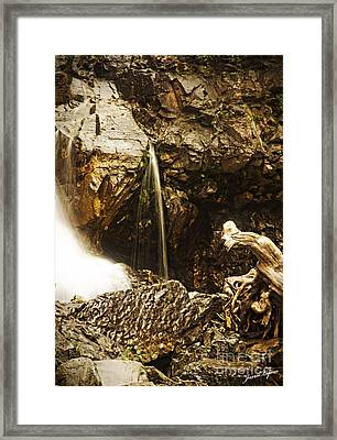 Framed Print featuring the photograph Morrell Falls 3 by Janie Johnson