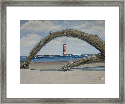 Framed Print featuring the painting Morris Island Perspective by Lyn Calahorrano