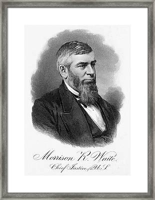 Morrison R. Waite (1816-1888) Framed Print by Granger