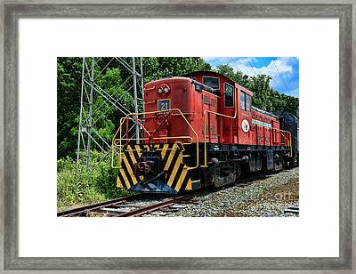 Morristown  Erie Engine No.21 Framed Print by Paul Ward