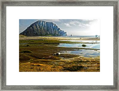 Morro Bay - Morro Rock Framed Print by Gregory Dyer