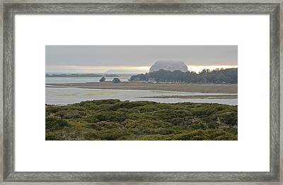Morro Rock From The Elfin Forest Framed Print by Heidi Smith
