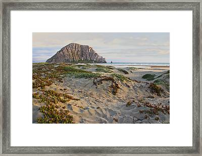 Morro Rock Framed Print by Heidi Smith