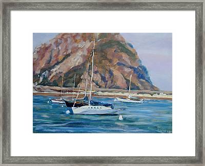 Morro Rock Framed Print by Richard  Willson