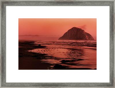 Morro Sunset Framed Print by Matt  Trimble