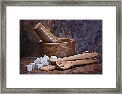 Mortar And Pestle Still Life I Framed Print by Tom Mc Nemar