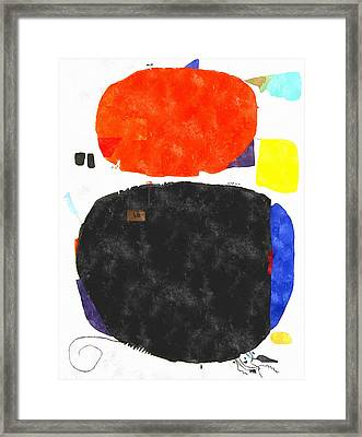 Mortaruru With Red Overhead Framed Print