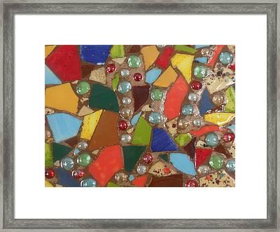 Mosaic Art 6 Framed Print by Gail Schmiedlin