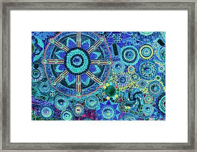 Mosaic Art Design Framed Print by Bou Lemon