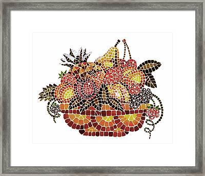 Mosaic Fruits Framed Print