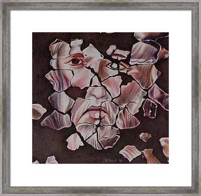 Mosaic Framed Print by Joan Pollak