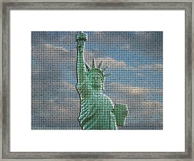 Mosaic Liberty Framed Print