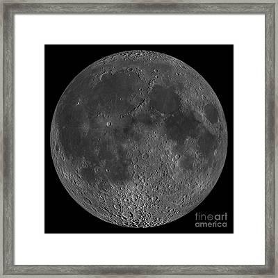 Mosaic Of The Lunar Nearside Framed Print