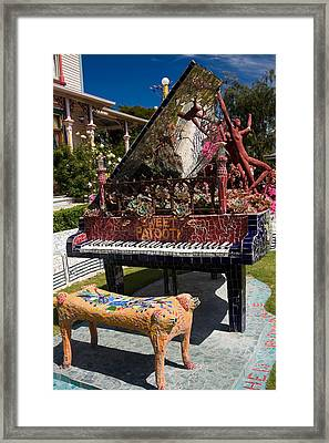 Mosaic Piano Sculpture Framed Print