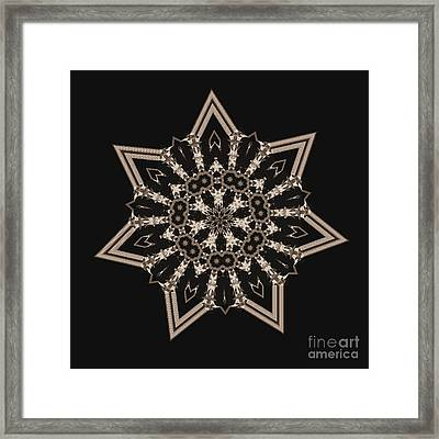 Mosaic Work Of Sepia Art  Framed Print