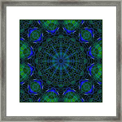 Framed Print featuring the digital art Mosaicglobe Kaleidoscope by Barbara MacPhail
