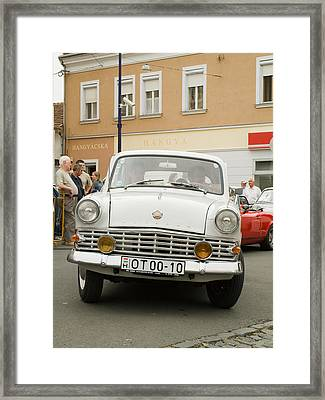 Moscovich Old Car Framed Print by Odon Czintos