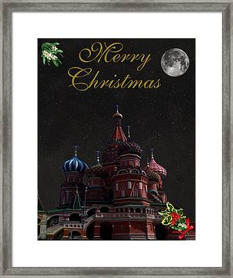 Moscow Merry Christmas Framed Print by Eric Kempson