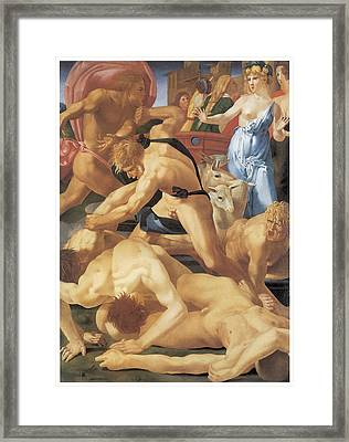 Moses And The Daughters Of Jethro Framed Print by Rosso Fiorentino