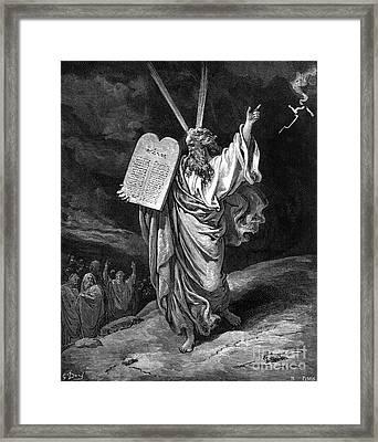 Moses Descending Mt. Sinai Framed Print