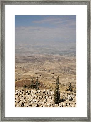 Moses First Saw The The Holy Land Framed Print by Taylor S. Kennedy