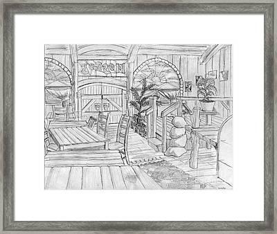 Mosgo's Cafe Framed Print by Jonathan Armes